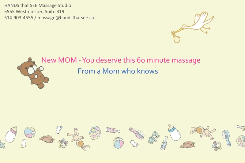 For the deserving new mom – she definitely needs a relaxing massage.